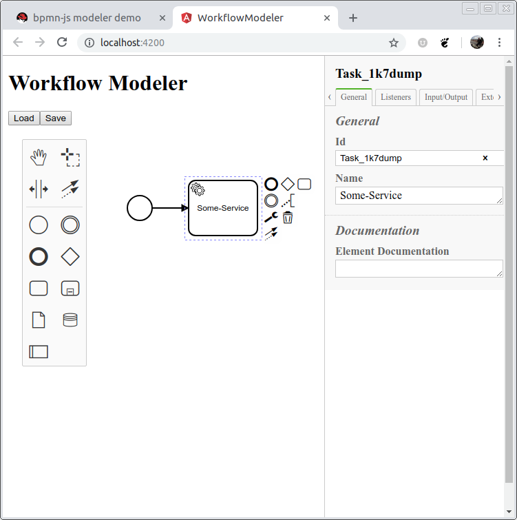 Angular 5/6 and the bpmn-js-properties-panel - Modeler