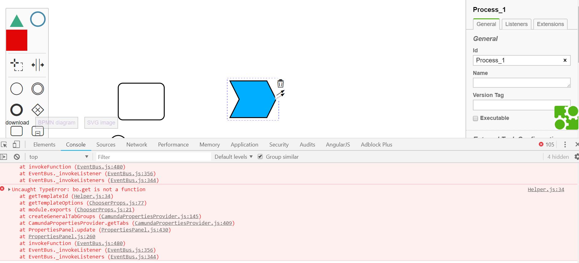 Custom Element Error (bo get is not a function) - Modeler